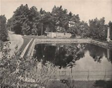 Parc du Mont Royal Park, Montreal, Quebec 1895 old antique print picture