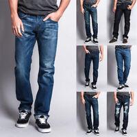 Men's Made in USA Straight Fit  Denim Premium Selvedge Jeans Pants  -M527SV-B1D7