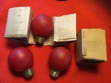 Rare Vintage General Electric red 115 volt 25 watt light bulb
