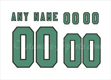 Saskatchewan Roughriders Football Number kit for White Jersey