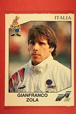 Panini EURO 92 N. 250 ITALIA ZOLA NEW WITH BLACK BACK TOP MINT!!