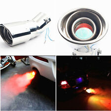 Novelty Torch End 12V LED Car SUV Exhaust Pipe Rear Muffler Tip Cover Universal