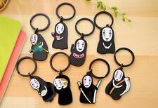 1pcs studio Ghibli Spirited Away no face man Keychain Metal Key Ring