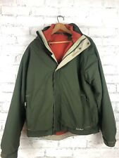 LL BEAN The Weather Channel 3 in 1 Green Jacket/Parka Men's Medium