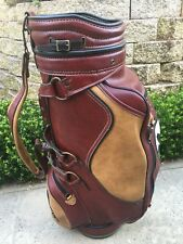 Vintage Belding Harrah's Reno Casino Golf Bag - Red & Brown - Old School Cool