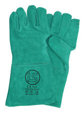 Langley Branded Green Woodburner - Welders Gauntlet - BBQ Glove
