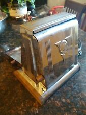 Westinghouse Chrome VINTAGE Turnover Toaster Electric + Cord  Works!
