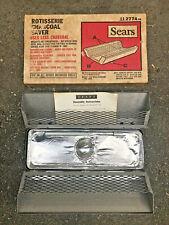 BBQ Rotisserie Charcoal Saver Fire & Drip Pan Sears Roebuck & Co USA