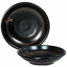 """4 PCS. Japanese 3.75""""D Sushi Soy Sauce Dipping Dishes Dragonfly, Made in Japan"""