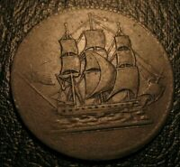 1829 Prince Edward Island Colonial Commerce Canada Token US Flag Breton 997