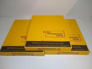 Kodak Kodabromide F3 Photographic Paper 8x10 Lot of 3 Boxes SEALED Single Weight