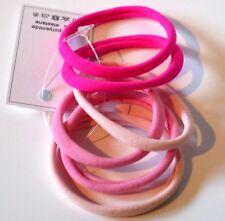 Élastiques cheveux lot de 6 attaches sans métal coloris rose fabriqué en Italie