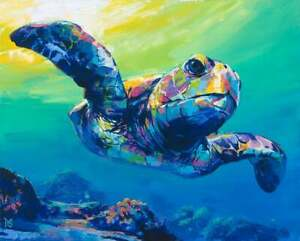 SEA TURTLE Print, Turtle poster, Small Turtle Print, Turtle Wall Art