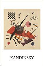 VASILY KANDINSKY orange VINTAGE PAINTING art poster RUSSIAN 24X36 abstract