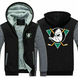 Starter Anaheim Mighty Ducks Thicken Hoodie Winter Jacket Camo Coat Sweatershirt