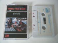 CROSBY STILLS & NASH CSN CASSETTE TAPE ALBUM 1977 WHITE PAPER LABEL ATLANTIC