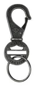 Harley-Davidson Blank Bar & Shield Keychain, Antique Plated Nickel KY114406