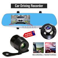 "4.3""  HD Car DVR Dash Cam Video Recorder G-Sensor Dual Lens Night Vision Camera"