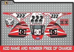 pw80 decals graphics your name and number yamaha pw 80 personal   Full kit  RED