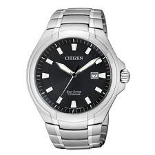 Citizen Herrenuhr Eco Drive 10bar Titan Datum Saphirglas Solar BM7430-89E NEU