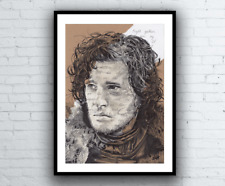 Jon Snow Night's Watch Vows Original Portrait Drawing Game of Thrones Artwork