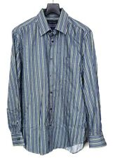Kenneth Roberts Men's Dress Shirt Long Sleeve Sz Large Button Front Striped