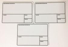 Tour Label, Case Label, Produktionsaufkleber 50er Pack (weiß, grau), B-Ware