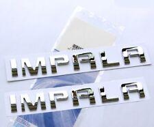 2x GENUINE Chrome IMPALA EMBLEM Badge Nameplate Alloy Letter for GM Chevrolet YU