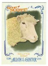 2015 Topps Allen and Ginter Great Scot! #GS-10 Dolly the Sheep