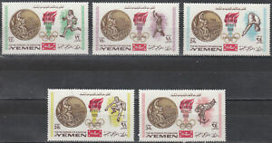 YEMEN KINGDOM 0620A-624A MEXICO OLYMPIC GOLD MEDAL WINNERS PERFORATED SET