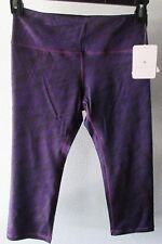 YogaReflex C-Lex High Performance Fabric Yoga Capri Pants Leggings Small Purple