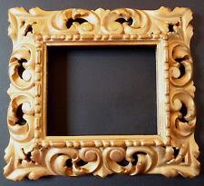 CADRE BOIS DORÉ OR FIN ITALIEN XIX profil inversé 16 x 13 cm  FRAME Ref C572