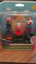 PEPPA PIG DRESS UP 5 FIGURE PACK & TV TIME CONSTRUCTION SET - Receive BOTH - NEW