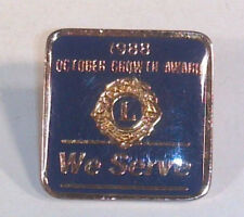 """Vintage Lions Club 1988  October Growth Award Lapel Hat Pin 3/4"""" Tie Tack"""