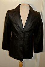 Worthington Black Leather Jacket Womens sz. Small Chico Full liner