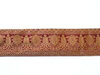 Antike indische Sariborte 385/6 cm antique saree borders braid Nr. 2734