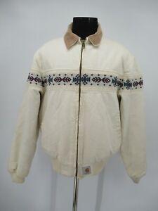 M9582 VTG Carhartt Men's Blanket Line Aztec Navajo Work Jacket Size XL
