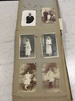 Antique Album Victorian - 1920s Photographic Postcard Photos French France