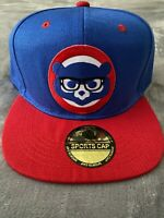 ⚾️👓CHICAGO CUBS 🐻 HARRY CAREY 🤓GLASSES EMBROIDERED LOGO CAP SNAPBACK NEW ⚾️👓