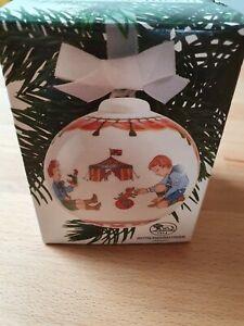 Hutschenreuther Weihnachtskugel Porzellan 1992 OVP 7.Ausgabe
