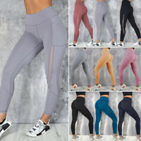 NEW Womens Yoga Pants Fitness Leggings Running Gym Exercise Sports Trousers X749