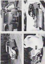 LOT DE 4 CARTES POSTALES - CITROEN 2CV - CHASSE NEIGE - 1949 - BERGER - 1956