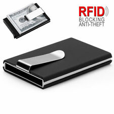 RFID Blocking Business ID Credit Card Slim Clip Wallet Holder Metal Pocket Case