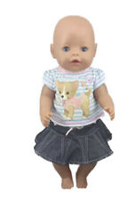 ⭐️BRAND NEW⭐️Clothes To Fit 43cm Baby Born Doll - Skirt & T Shirt