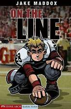 On the Line (Jake Maddox Sports Stories)-ExLibrary