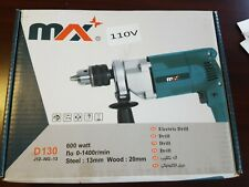Max Electric Drill ~110v 600 watt ~D130 Brand New In Box
