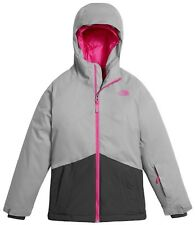 The North Face Brianna Girls XL Grey/Pink Heatseek Insulated Waterproof Jacket