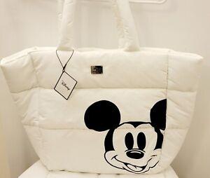 Disney Primark Mickey Mouse White Black Travel Tote Bag Purse NWT