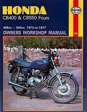 Haynes M262 Service & Repair Manual for 1973-77 Honda CB400 / CB550