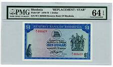 Rhodesia … P-30 … 1 Dollar … 1976 … *UNC*  PMG 64 EPQ.